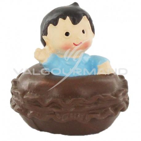 Macarons mini et bébé BLEU - 4 pièces
