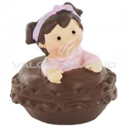 Macarons mini et bébé ROSE - 4 pièces