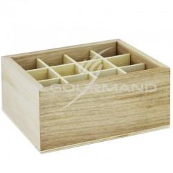 Présentoir en bois 12 compartiments NATUREL (pour éprouvette) - pièce