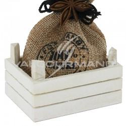 Cagette mini en bois blanchi - pièce