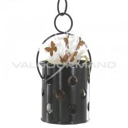 Lanternes ajourées avec crochet CHOCOLAT - 40 pièces **1 LOT**