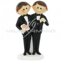 Hommes en couple PM H. 10cm - pièce en stock