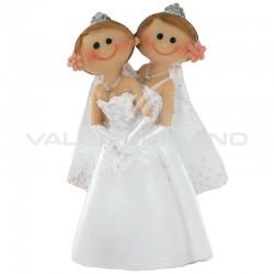 Femmes en couple PM H. 10cm - pièce en stock