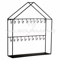 Présentoir Maison avec crochets NOIR - pièce en stock