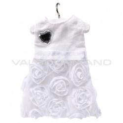 Robe blanche sur cintre Princesse - pièce