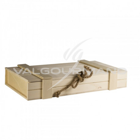 Coffre en bois naturel - pièce