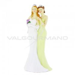 Statuette couple de Femmes GM H. 22cm - pièce en stock