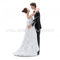 Couple de mariés Couture H. 20cm - pièce en stock