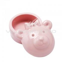 Boîte à dents ourson ROSE en porcelaine - pièce