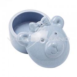 Boîte à dents ourson BLEU en porcelaine - pièce