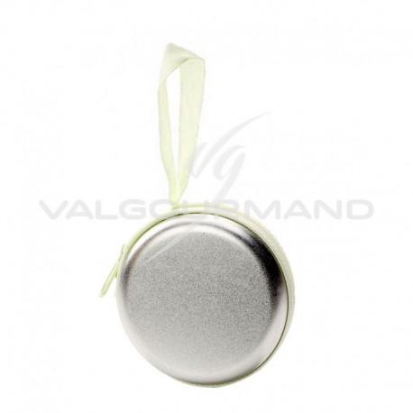 Porte monnaie en métal ARGENT - pièce