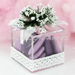 Boîte cube Romantica en plexiglass - pièce (déco comprise !)