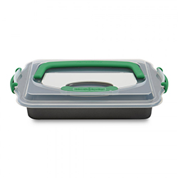 Plat rectangulaire avec couvercle et trancheur Perfect Slice BergHOFF en stock