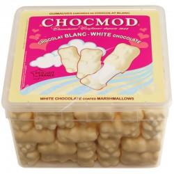 Oursons en guimauve chocolat blanc - tubo de 1kg *PROMO* en stock