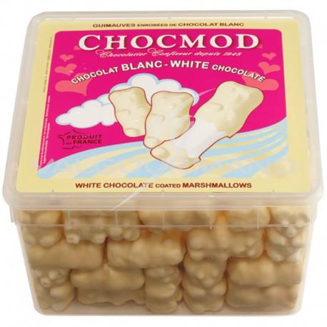 Oursons en guimauve chocolat blanc - tubo de 1kg *PROMO*
