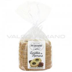 Sablés pâtissiers chocolat noisette (lunettes fourrées) 350g - 8 paquets en stock