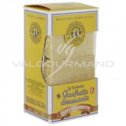 Gaufrettes amusantes Eugène Blond Noisette 175g - 12 étuis en stock
