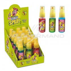 Candy spray 2 : pomme verte, framboise et cerise - boîte de 15