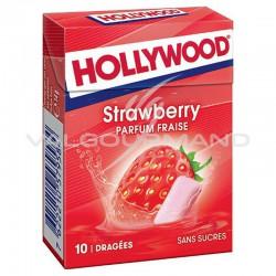 Hollywood dragées strawberry fraise fresh SANS SUCRES - 20 étuis en stock
