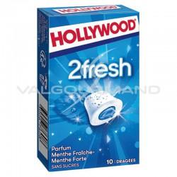 Hollywood dragées 2fresh menthe fraîche et forte SANS SUCRES - 16 étuis en stock