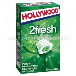 Hollywood dragées 2fresh menthe verte/chlorophylle SANS SUCRES - 16 étuis