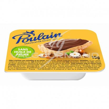 Pâte à tartiner Poulain 15g (sans huile de palme) - 120 barquettes