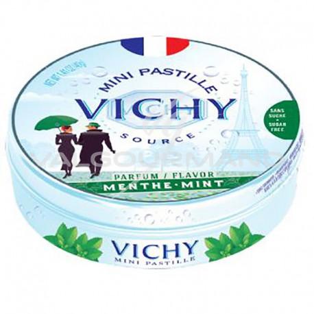 Pastilles de Vichy menthe 40g - 10 boîtes métal
