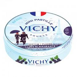 Pastilles de Vichy cassis 40g - 10 boîtes métal en stock