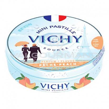 Pastilles de Vichy pêche 40g - 10 boîtes métal