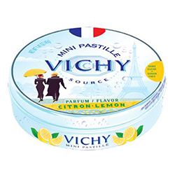 Pastilles de Vichy citron 40g - 10 boîtes métal