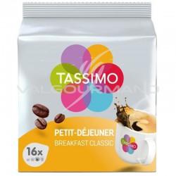 Tassimo Petit Déjeuner classique 128g (16 dosettes) - les 5 paquets en stock