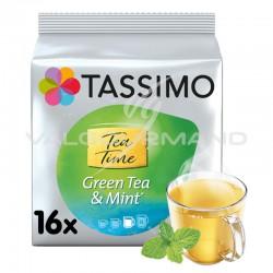 Tassimo Tea Time Thé vert à la menthe (16 dosettes) - les 5 paquets