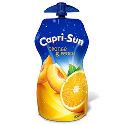 Capri-Sun Orange Pêche poche 33cl refermable - lot de 15 en stock