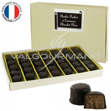 Bouchées praliné noir à l ancienne - Fabrication artisanale Française - 500g