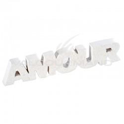 Inscription Amour BLANC pailleté - pièce