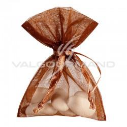 Pochons en organdi CHOCOLAT - 10 pièces