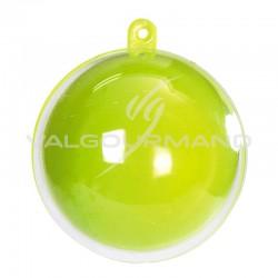 Boules en plexi 5CM ANIS/TRANSPARENT- 20 pièces