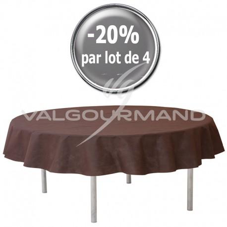 Nappe ronde Diamètre 2,40M CHOCOLAT - pièce
