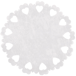 Centres de table Coeurs en intissé BLANC - 5 pièces