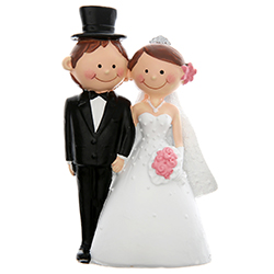 Figurine Mr Mrs PM H. 10cm - pièce en stock
