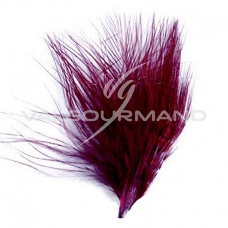 Plumes Duvet 7cm BORDEAUX - 20 pièces SUPER PRIX