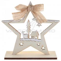 Déco de Noël en bois forme ETOILE - pièce