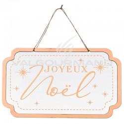 Pancarte en bois Joyeux Noël - pièce en stock