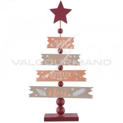 Sapin de Noël en bois CUIVRE et OR - pièce en stock