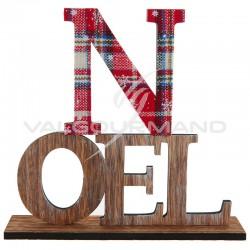 Lettres NOEL en bois sur socle - pièce en stock