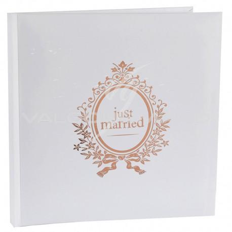 Livre d'or Just Married ROSE GOLD - pièce