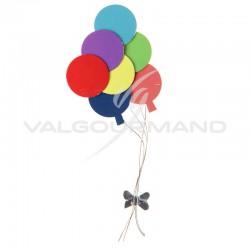 Ballons multicolores Autocollants - 2 pièces