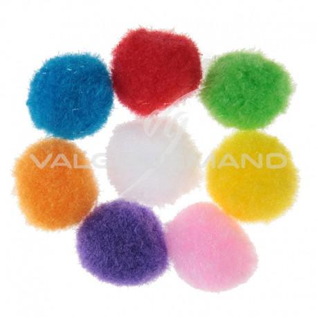 Pompons mini multicolores - 50 pièces
