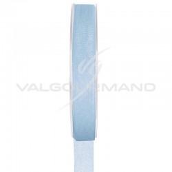 Ruban 7MM en organdi BLEU CIEL - la bobine de 20 mètres