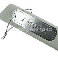 Etiquettes Amour en aluminium argenté - 4 pièces en stock